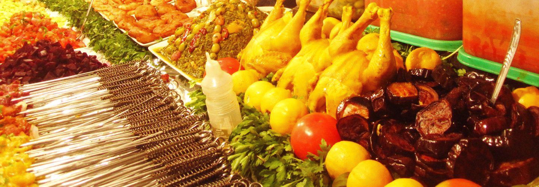 ネパールの食材は彩りも鮮やかです